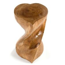 Twist Heart Table/Stool/Solid Acacia Wood/Lamp Table/Plant Stand/Waxed/51x27x27