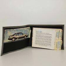1985 1986 Merkur XR4Ti Owner's Manual Book  13B