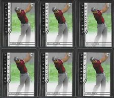 New listing (6) 2021 UD Artifacts PGA Golf Austin Cook Serial #'d RC Rookie Card LOT /999