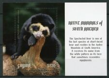 Guyana 2018 MNH Native Mammals South America Spectacled Bear 1v S/S Bears Stamps