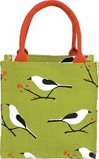 rockflowerpaper Snowy Bird All Over Itsy Bitsy Bag Green/Red One Size (I)