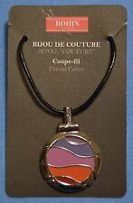 Bohin, Bijou Couture Thread Cutter Necklace - Fuchsia & Violet