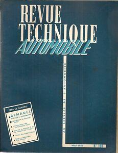 REVUE TECHNIQUE AUTOMOBILE 169 RTA 1960 RENAULT FLORIDE RENAULT DAUPHINE GORDINI
