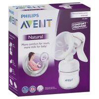 Philips Avent Natural Breast Pump Manual Milk BPA Free SCF330/20
