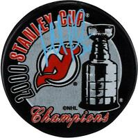 Martin Brodeur New Jersey Devils Signed 2000 Stanley Cup Champs Logo Hockey Puck
