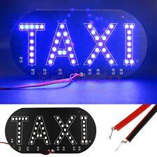 High Quality Taxi Cab Windscreen Windshield Sign Blue LED Light Lamp Bulb DC 12V