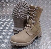 Genuine British Army Issue Soldier Desert Nubuck Assault / Patrol Combat Boots