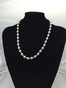 Chain Unique Men's 20 Heavy Silver coloured link Chain Ball Necklace Jewelry 2