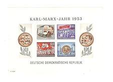 Briefmarken DDR 1953 Karl Marx Jahr Mi Block 9 A postfrisch