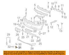 Acura HONDA OEM 04-06 TL Front Bumper-Spoiler Screw 93903254G0