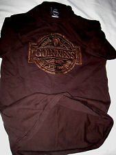 GUINNESS IRELAND LIGHT WEIGHT COTTON MUSCLE FIT LEATHER LIKE APPLIED T-SHIRT-M/L