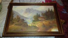 Alpine mountain scene framed picture l@@k