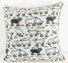 Tapestry Cushion Filled Sheep Design Signare -  40 x 40 cm