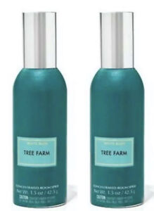 2 Bath & and Body Works White Barn Tree Farm Room Spray Lot New