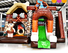 30x20x25 Commercial Inflatable Flintstones Playground Bounce House Combo Slide