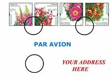 Philatelic Cover (Flowers) Sent By Real Mail To Your Address