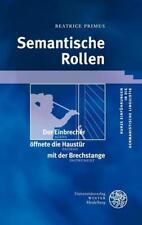 Semantische Rollen von Beatrice Primus (2012, Taschenbuch)