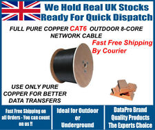 CAT6 Solid PE Black Outdoor Cable 305m 100% Copper Network Ethernet DUCT GRADE
