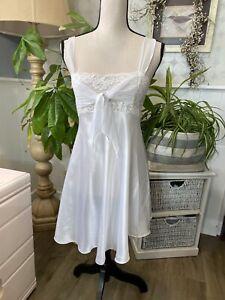 Vintage CIRCA 2000 bridal floral ivory wedding nightie lingerie Small RARE