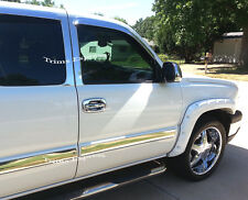 03-06 Chevy Silverado/Sierra Crew Cab Body Side Molding Trim Overlay Chrome 3.5""