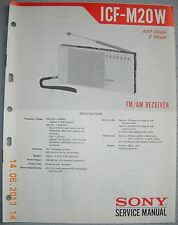 SONY ICF-M20W 2-Band Radio Service Manual