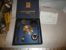 Machinist Tool Lathe Mill Record Power Collet Chuck Set In Box Ofce
