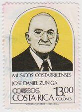 (CR138)1984CostaRica13colYellow black Jose Zunigaow1346