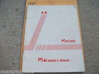 Kawasaki Jet Ski 300 Owner Owners Owner's Manual 99920-1298-02