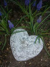 Steinfigur Herz 17cm mit Engel