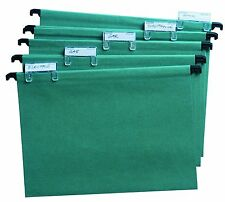 X20 Foolscap Suspension Files With Tabs And Inserts, Filing Cabinet Folders Set