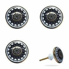 4 Furniture Knobs Jamil Accessories Handle Button Gold Black White