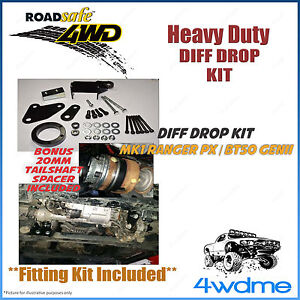 """Ford Ranger PX PX1 PX2 Mark 2 4WD Roadsafe Front Bolt In Diff Drop Kit 2"""" - 4"""""""