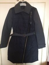 New Bosideng Womans Black Down & Wool Coat Jacket size S UK 8, small 10 RRP £200