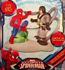 NEW 7 FT LONG MARVEL CHRISTMAS SPIDERMAN VS. DR. OCTOPUS INFLATABLE BY GEMMY