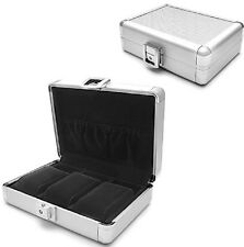 Orbita Lugano 3 Aluminum Travel Watch Case Suede Lined w/ Storage Pouch W81000