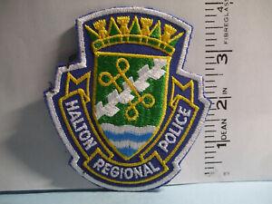 police patch   HALTON REGIONAL POLICE ONTARIO CANADA