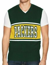 bb7861e5f75 Green Bay Packers Men s XL NFL Sweater Vest V-Neck OTS Wordmark Forest Green  NEW