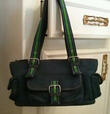 THE SAK Navy Blue/Green Handbag/Purse/Shoulder Bag Small,Like Nu
