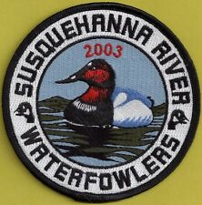 """Pa Pennsylvania Fish Game Commission NEW 4"""" 2003 SRWA Canvasback Duck Patch"""