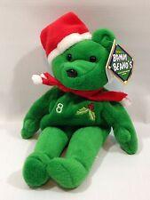 1998 Salvino's Bamm Beano's Cal Ripkin Jr. Christmas Beanie Baby Holiday Bear