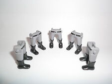 Playmobil 5 . Beine grau hellgrau Stiefel Südstaatler bedruckt Gürtel ACW Garde