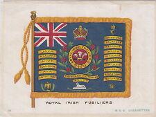 ROYAL IRISH FUSILIERS BDV Cigarettes auf Seide Godfrey Philips Ltd 1900-1948 RAR