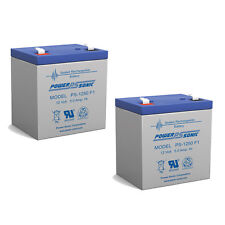 Power-Sonic 2 Pack - 12V 5AH SLA Battery Replacement for Mini-X XC50GTB Scooter
