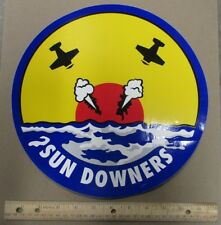"""LARGE 12"""" Decal VF-111 SUNDOWNERS US NAVY F-14 TOMCAT Squadron Patch Image"""