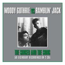Woody Guthrie VS Ramblin' Jack Elliott* Import 2-CD BOX SET * 50 Orig Songs* NEW