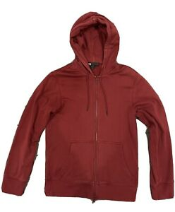 Y-3 CLASSIC SWEAT ZIP-UP HOODIE - Size M - Red