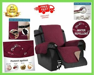 Recliner Arm Chair Cover Lazy Boy Protector Stays In Place Sofa Slipcover Straps
