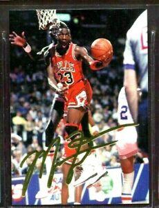 """Michael Jordan 1993 """" Dédicacé """" Or Feuille Américain Portant Carte Ltd 10,000"""