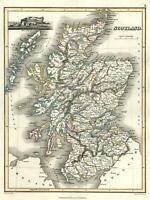 Kingdom of Scotland 1820 Thomson Hewitt Decorative Map