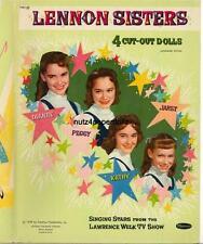 VINTGE 1959 LENNON SISTERS PAPER DOLL ~WHITMAN RARE CUTE~ UNCUT LASR REPRODUCTIN
